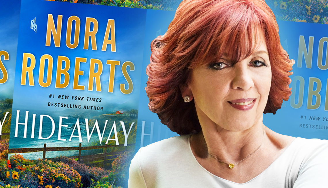 author nora roberts and her latest book hideaway