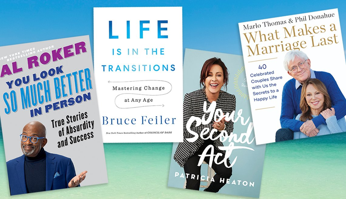 four books on living well by al roker bruce feiler patricia heaton and marlo thomas with phil donahue