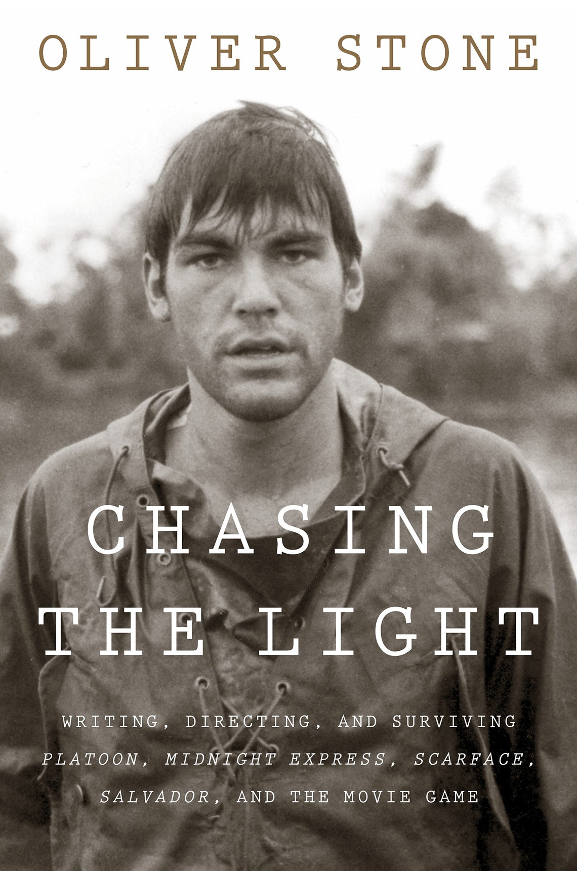 The book cover of the Oliver Stone memoir Chasing the Light