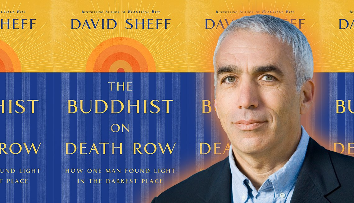 author david sheff portrait with his book the buddhist on death row
