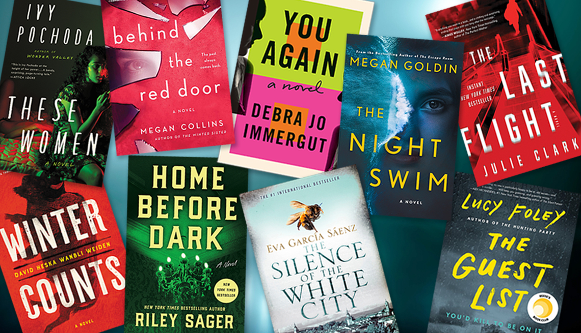 collage of nine thriller books for reading this summer