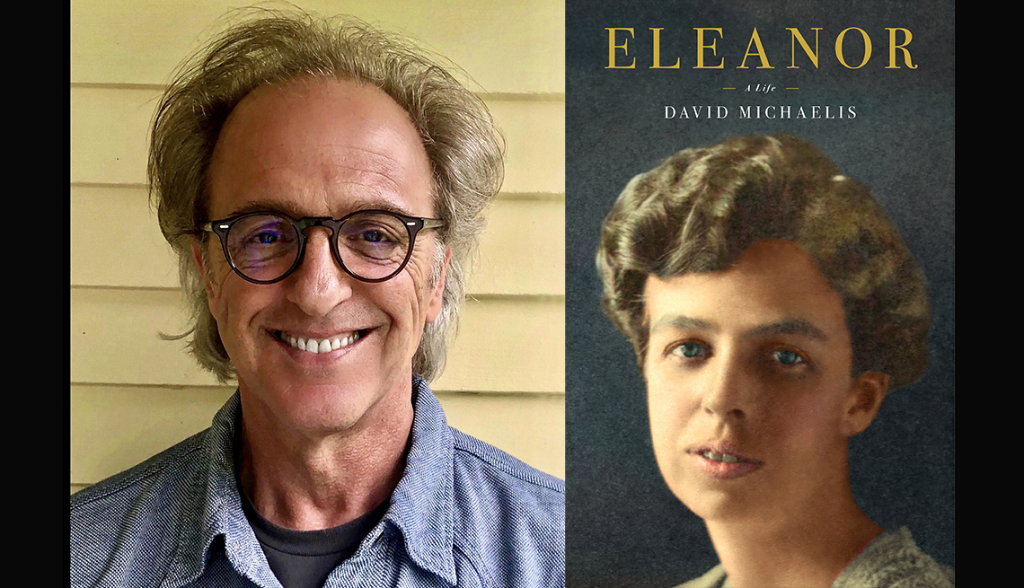 photo of author david michaelis and his book cover eleanor
