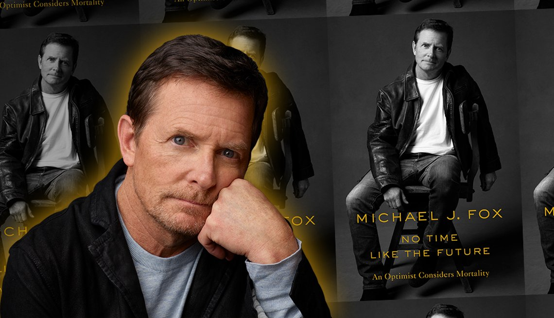 actor and author michael j fox and his new memoir titled no time like the future