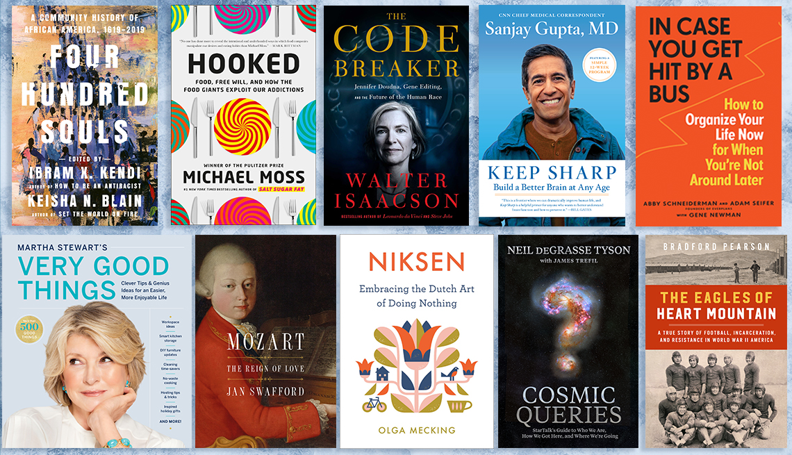 nonfiction books collage of books by ibram x kendi sanjay gupta neil degrasse tyson martha stewart and others