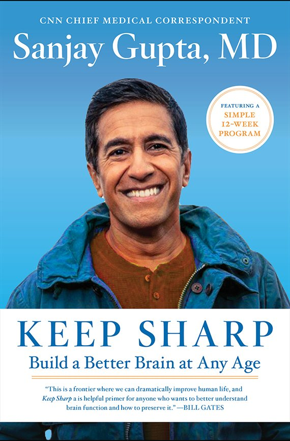 Portada del libro, Keep Sharp de Sanjay Gupta, MD