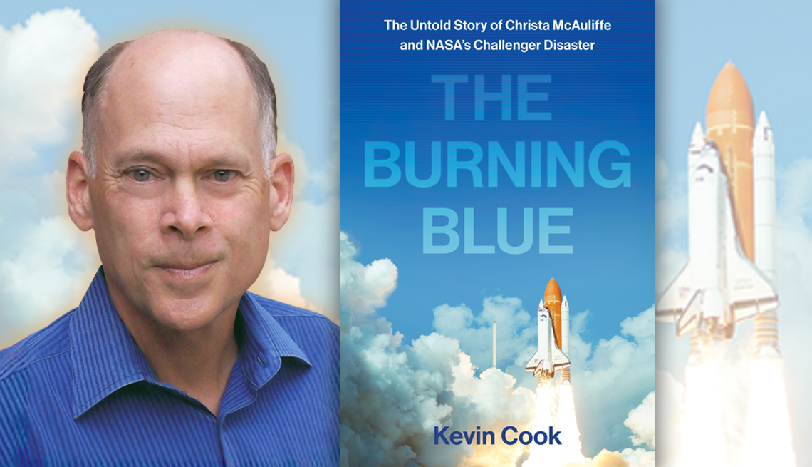 author kevin cook and his latest titled burning blue the untold story of christa mc auliffe and the nasa challenger disaster