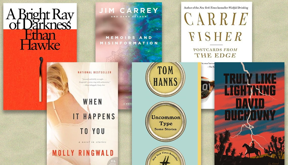 books by actors ethan hawke jim carrey carrie fisher molly ringwald tom hanks and david duchovny