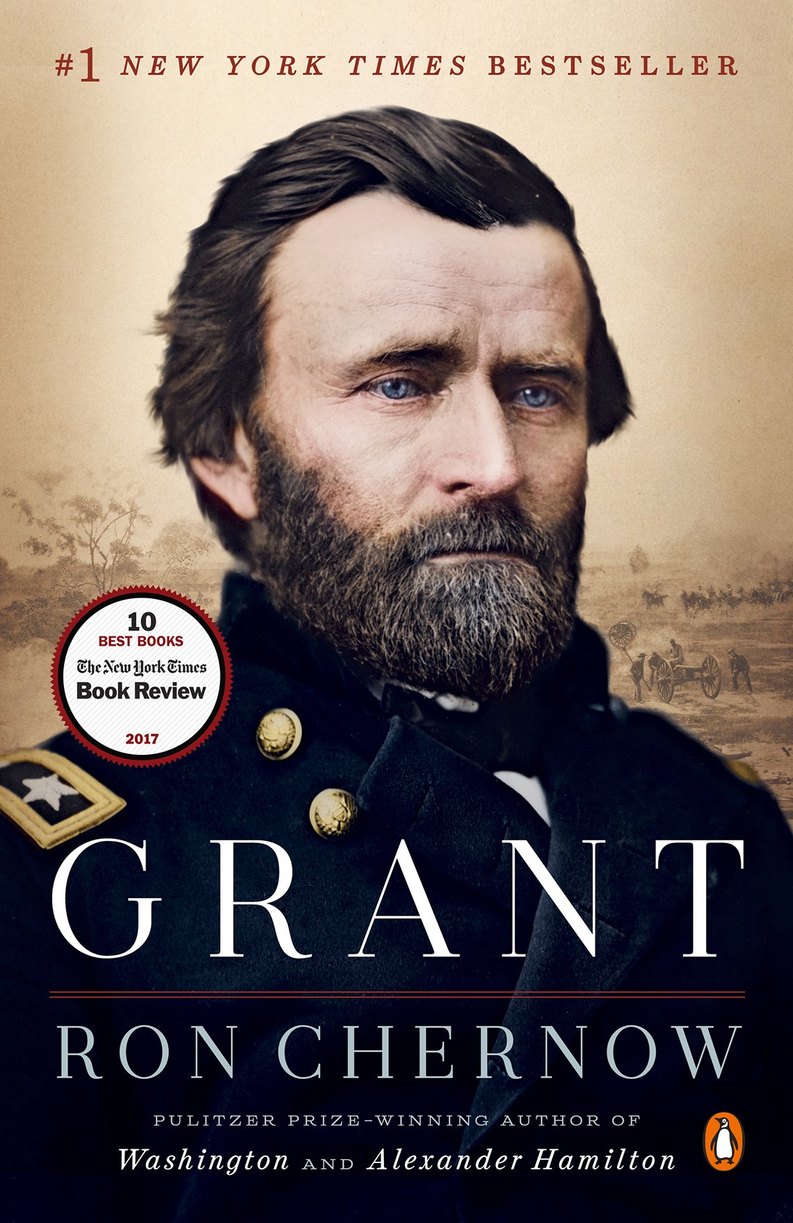 book cover for grant by ron chernow a bio of ulysses grant