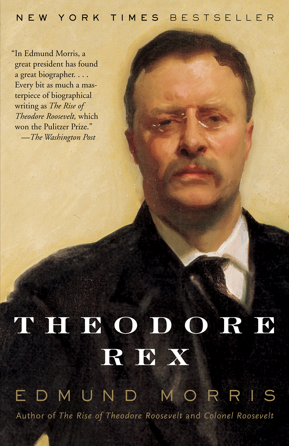 book cover of theodore rex by edmund morris
