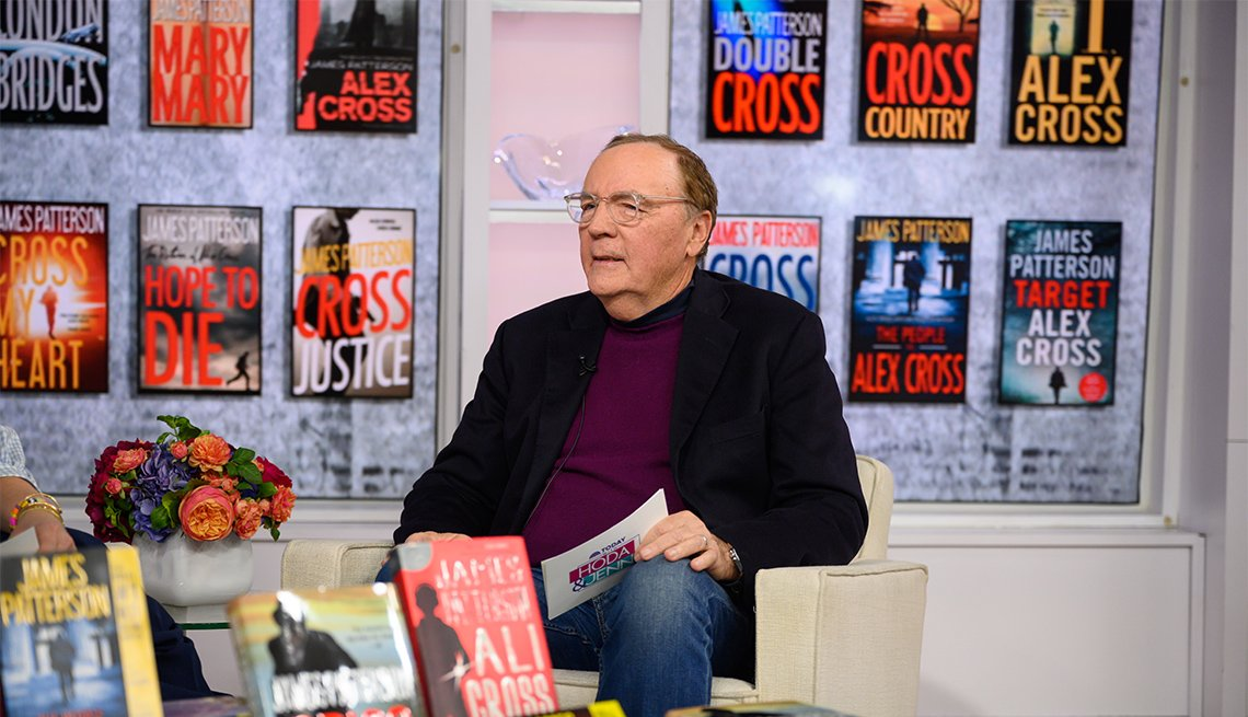 James Patterson appearing on 'The Today Show'