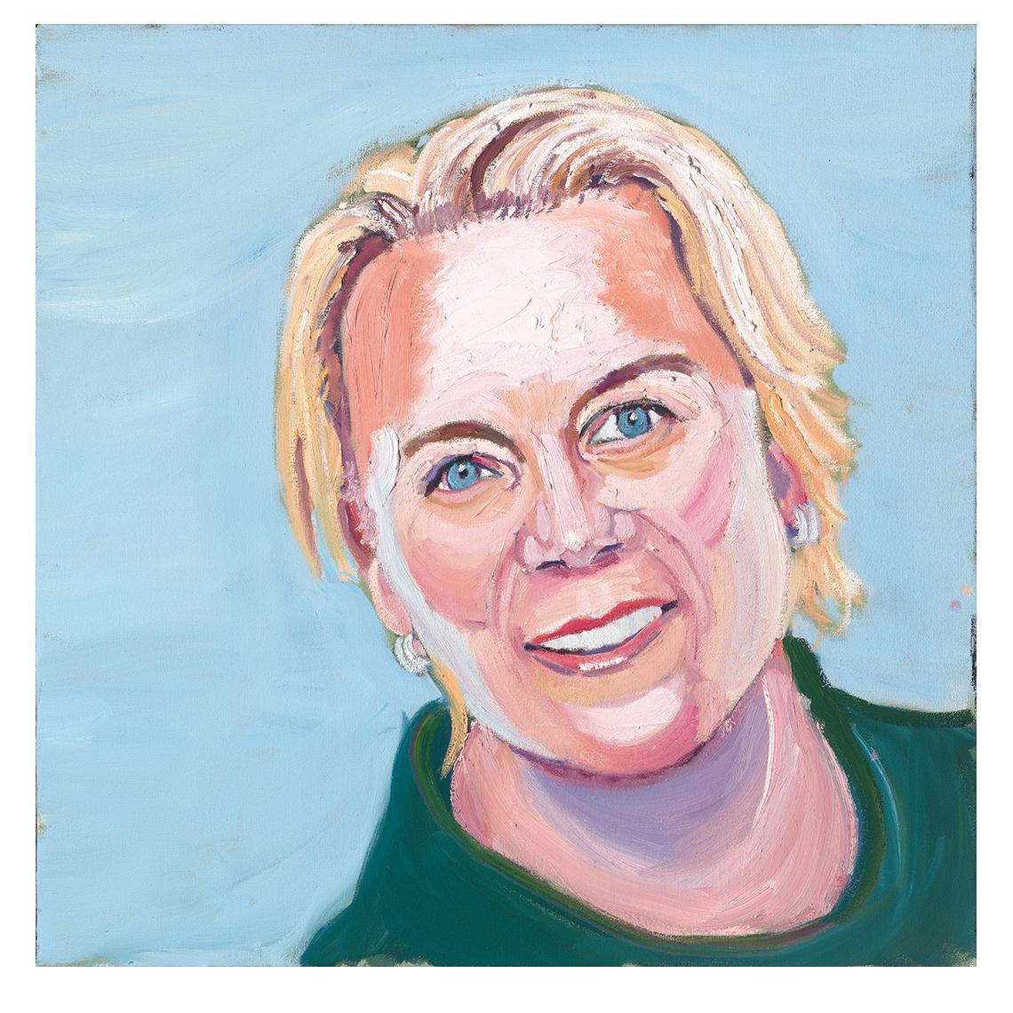 Retrato de Annika Sorenstam, por George W. Bush.