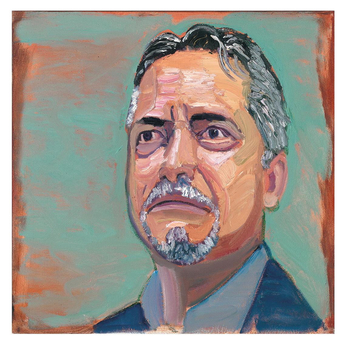 Retrato de Carlos Rovelo, pintado por George W. Bush.