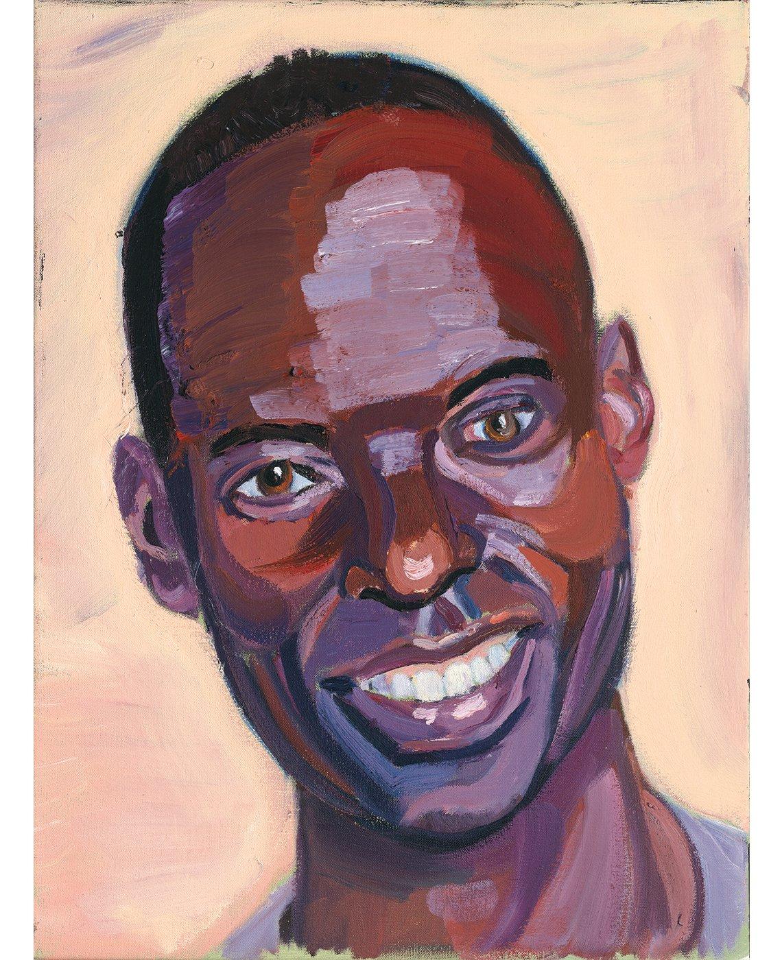 Retrato de Gilbert Tuhabonye, por George W. Bush.