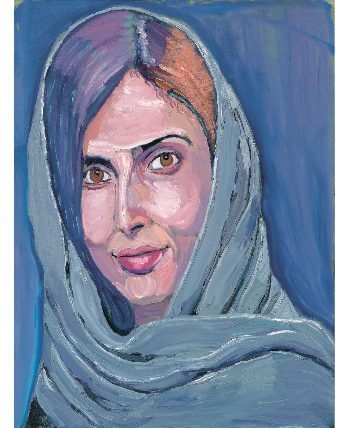 Retrato de Roya Mahboob, pintado por George W. Bush.