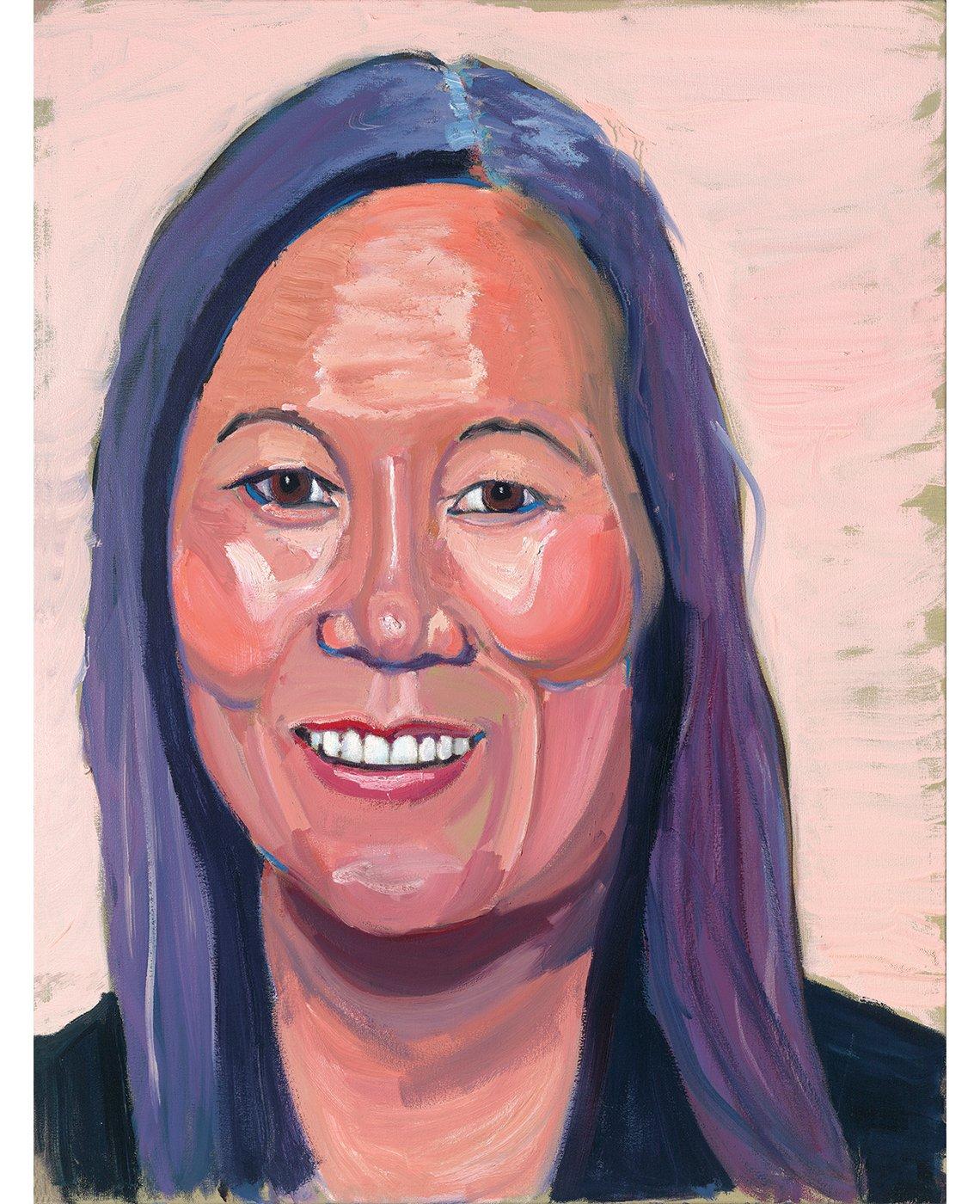 Retrato de Thear Suzuki, por George W. Bush.
