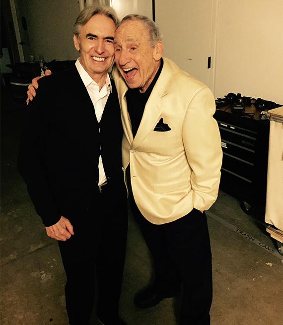 David Steinberg and Mel Brooks circa 2015