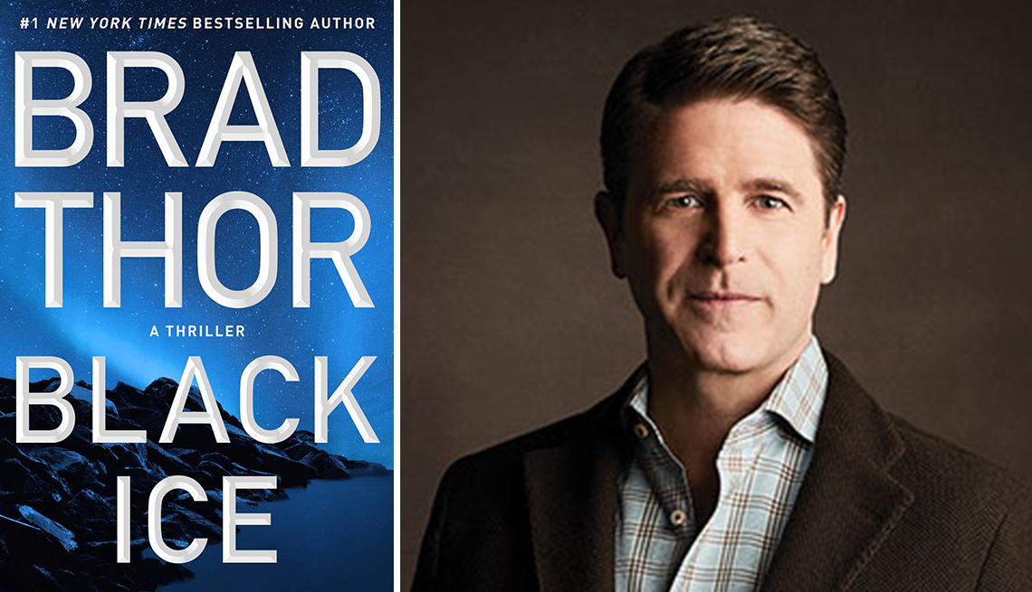 book cover of black ice by brad thor and the authors photo