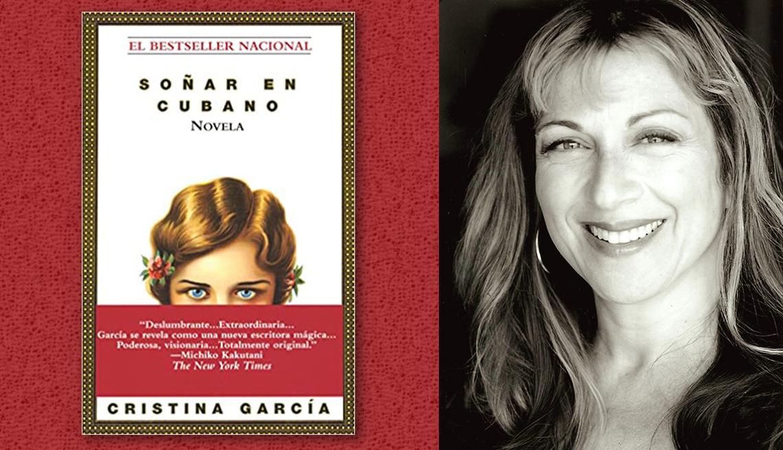 item 8 of Gallery image - La escritora Cristina García y la portada de su libro 'Soñar en cubano'.