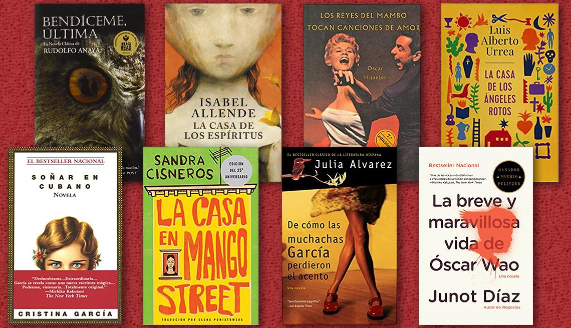 Portada de libros de autores latinos en Estados Unidos.