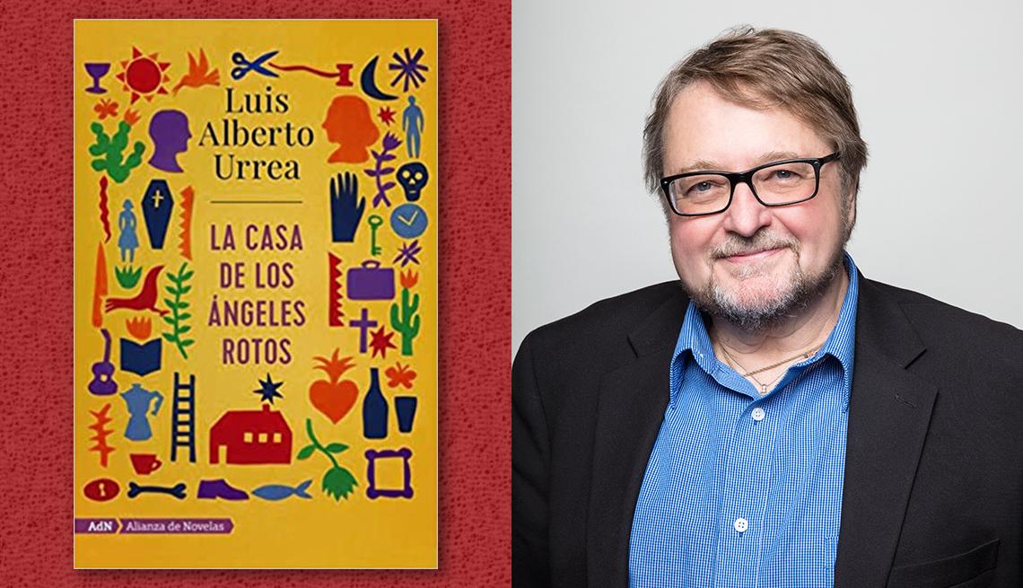 item 7 of Gallery image - El escritor Luis Alberto Urrea y la portada de su libro 'La casa de los ángeles rotos'.