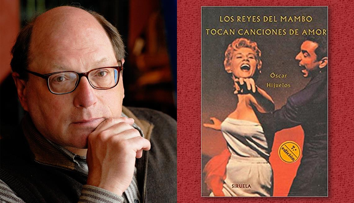 item 5 of Gallery image - El escritor Oscar Hijuelos y la portada de su libro 'Los reyes del mambo tocan canciones de amor'.
