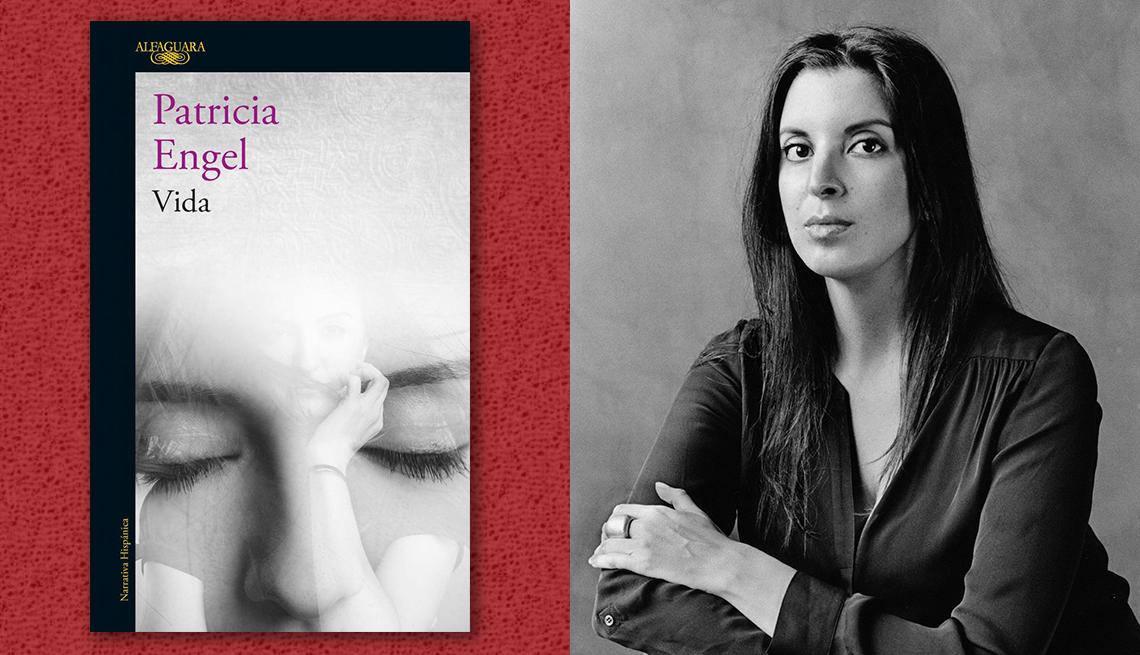item 12 of Gallery image - La escritoria Patricia Engel y la portada de su libro 'Vida'.