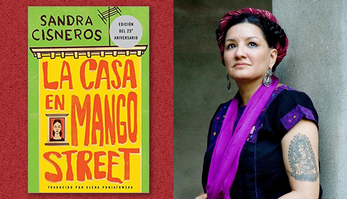 item 6 of Gallery image - La escritora Sandra Cisneros  y la portada de su libro 'La casa en Mango Street'.