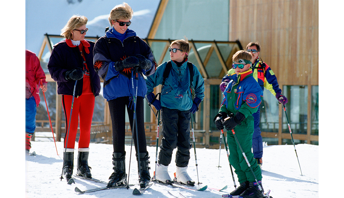 item 10 of Gallery image - Diana, Princess Of Wales, On A Spring Ski-ing Holiday With Her Sons, Prince William And Prince Harry, And Her Friend Kate Menzies.