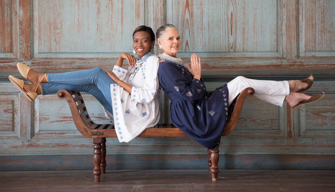 Ali MacGraw in a recent photo shoot for Ibu