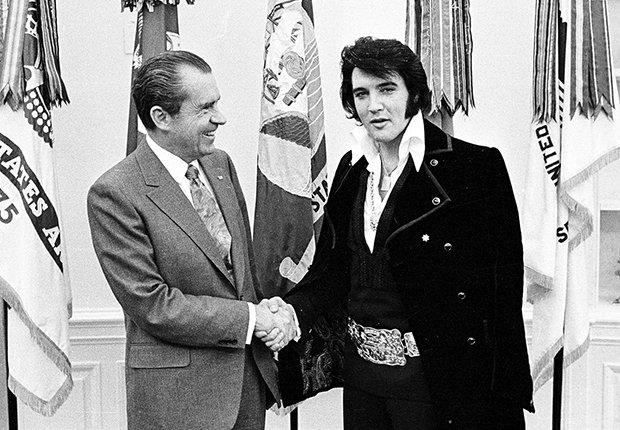 El rey del rock n roll con el presidente Richard Nixon - Elvis Presley, 40 años de su muerte