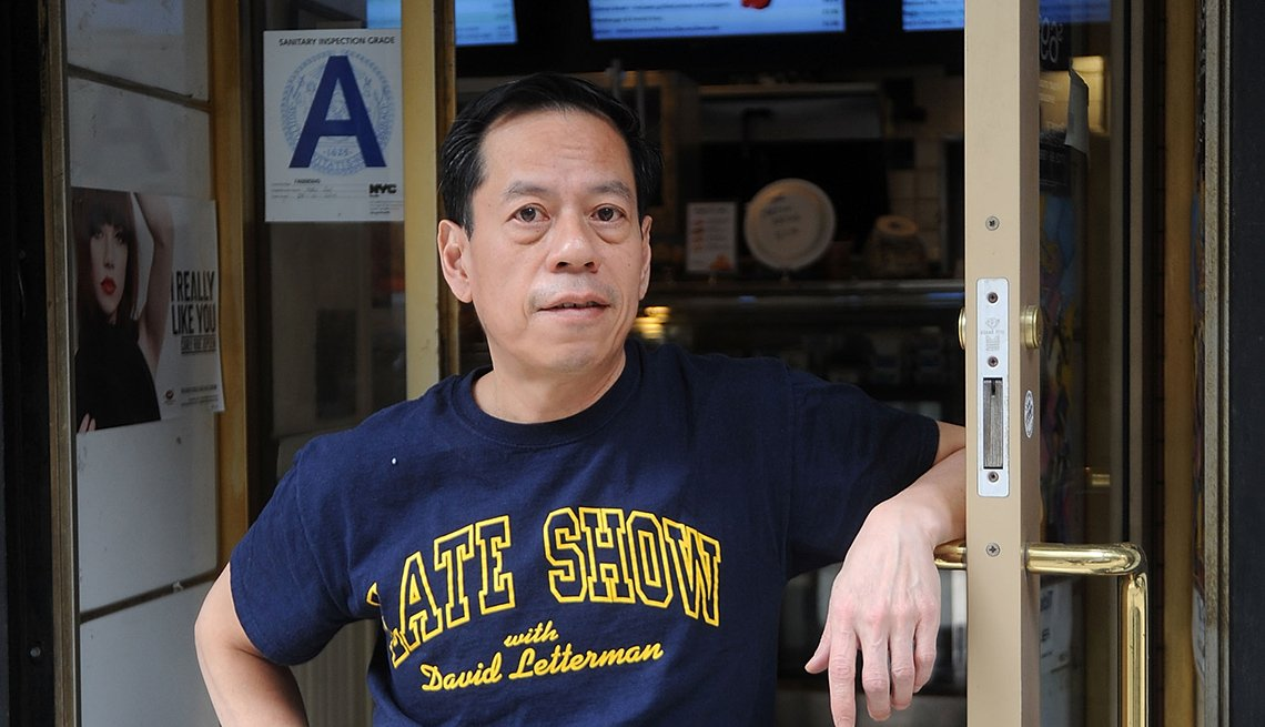 Rupert Jee of 'Hello Deli' next door to 'Late Show with David Letterman'