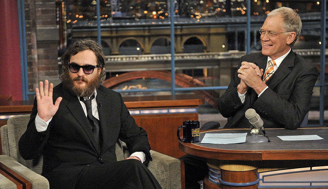 Joaquin Phoenix on the Late Show with David Letterman in 2009