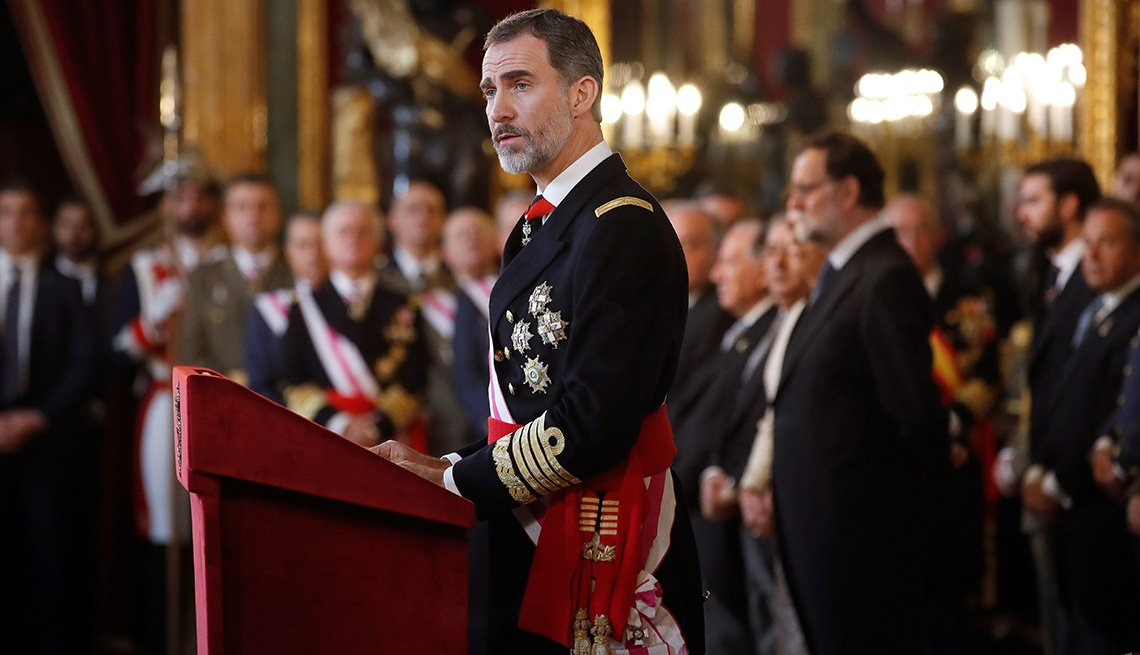 Spain's King Felipe VI chairs the Military Epiphany ceremony