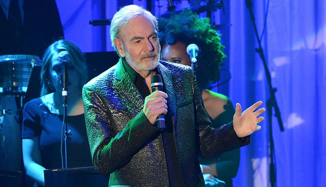 Singer Neil Diamond performs onstage