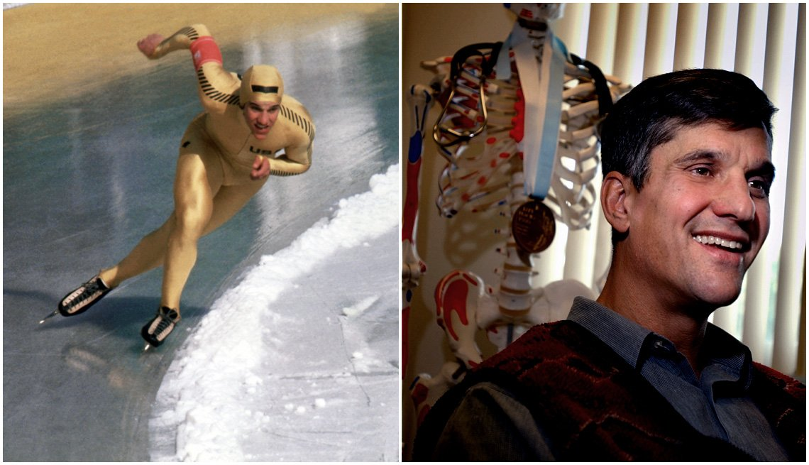 item 7, Gallery image. Speed skater Eric Heiden at the 1980 Winter Olympic Games; Heiden in 2009