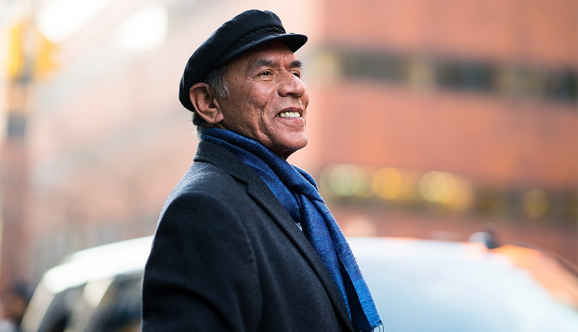 Wes Studi is seen in NoHo on December 18, 2017