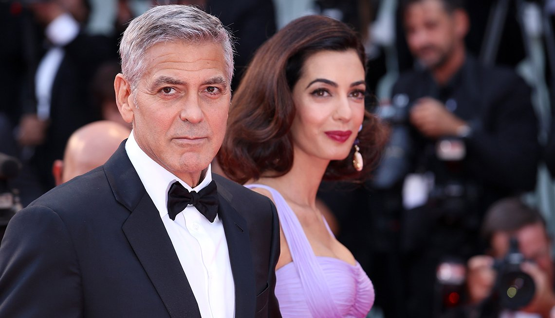 item 4 of Gallery image - George Clooney and Amal