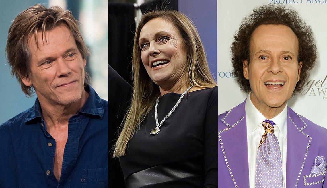 Kevin Bacon, Peggy Flemming, Richard Simmons headshots