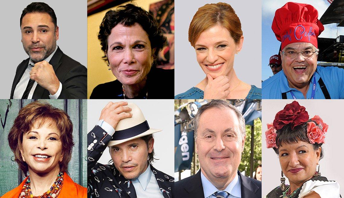 Perfiles de celebridades latinas