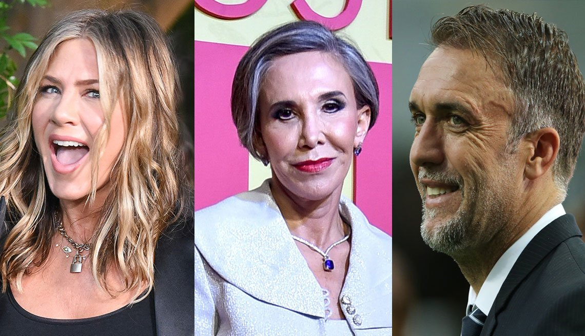 Jennifer Aniston, Florinda Meza, Gabriel Batistuta