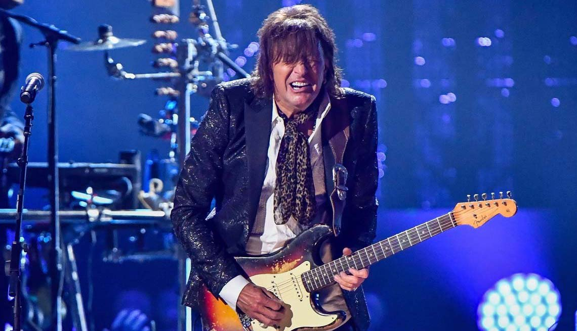item 3 of Gallery image - Inductee Richie Sambora of Bon Jovi performs onstage during the 33rd Annual Rock & Roll Hall of Fame Induction Ceremony at Public Auditorium on April 14, 2018 in Cleveland, Ohio.