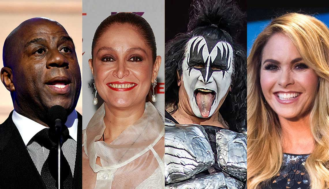 Magic Johnson, Daniela Romo, Gene Simmons, y Lucero.