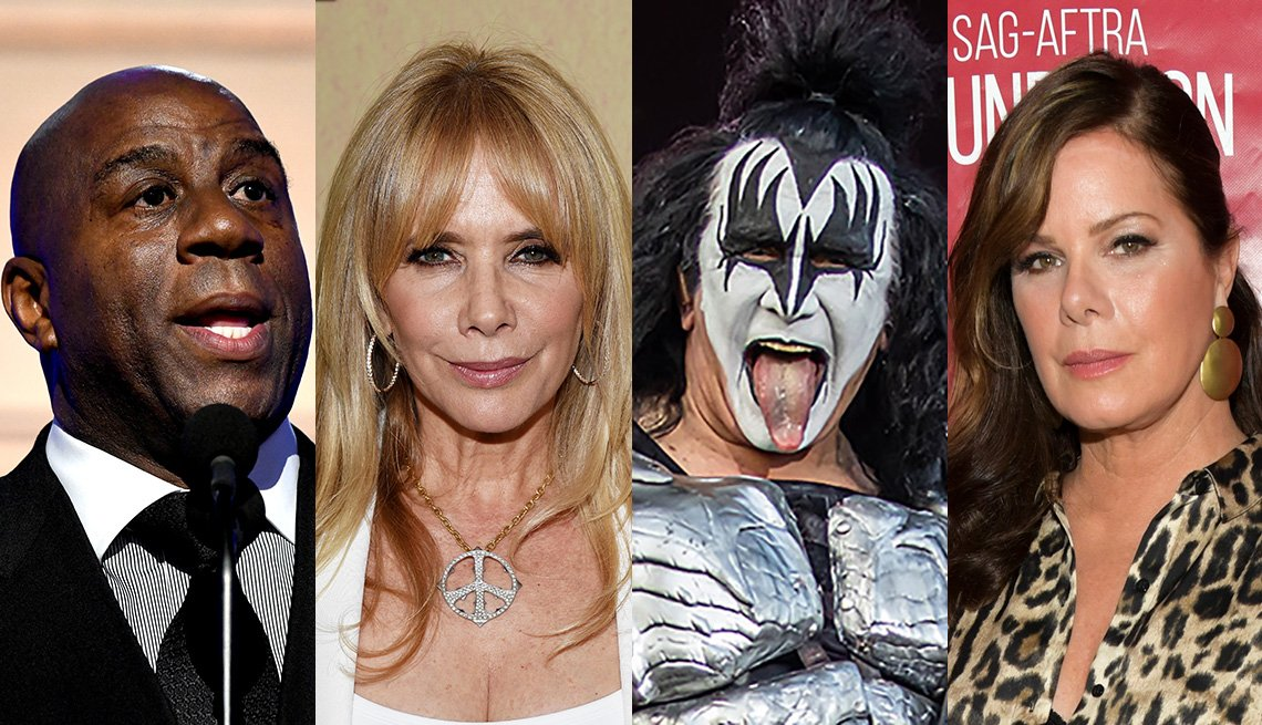 Magic Johnson, Roseanna Arquette, Gene Simmons, and Marcia Gay Harden