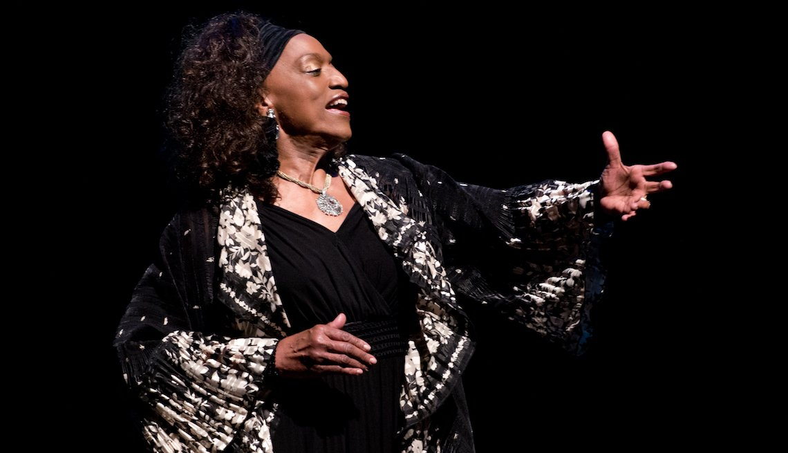 Singer Jessye Norman performs at the 2014 John Jay College of Criminal Justice Awards at Gerald W. Lynch Theatre on May 6, 2014 in New York City.
