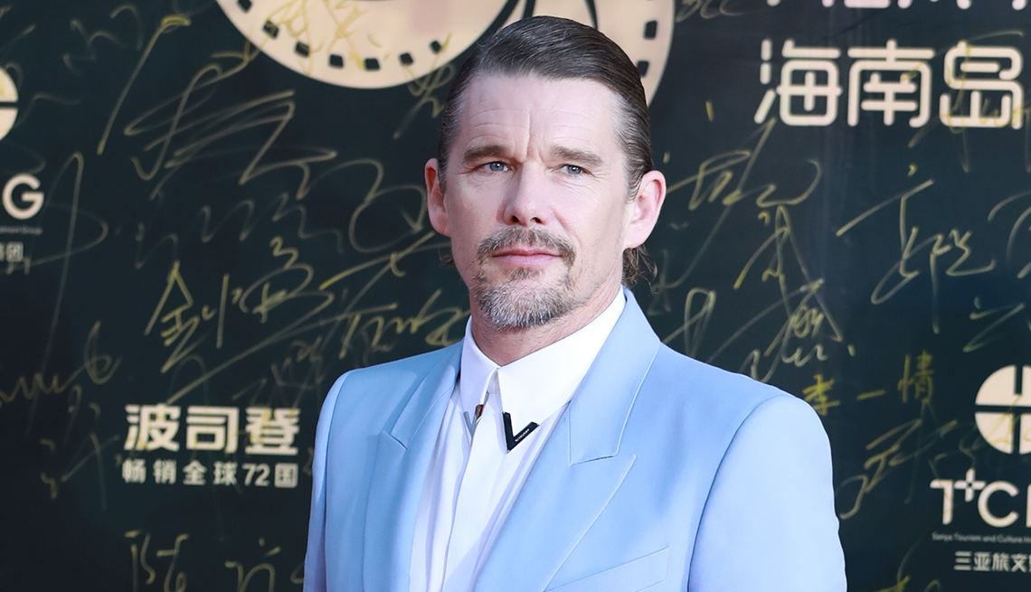 item 11 of Gallery image - Actor Ethan Hawke arrives at the red carpet of 2nd Hainan Island International Film Festival at Haitang Square on December 1, 2019 in Sanya, Hainan Province of China.