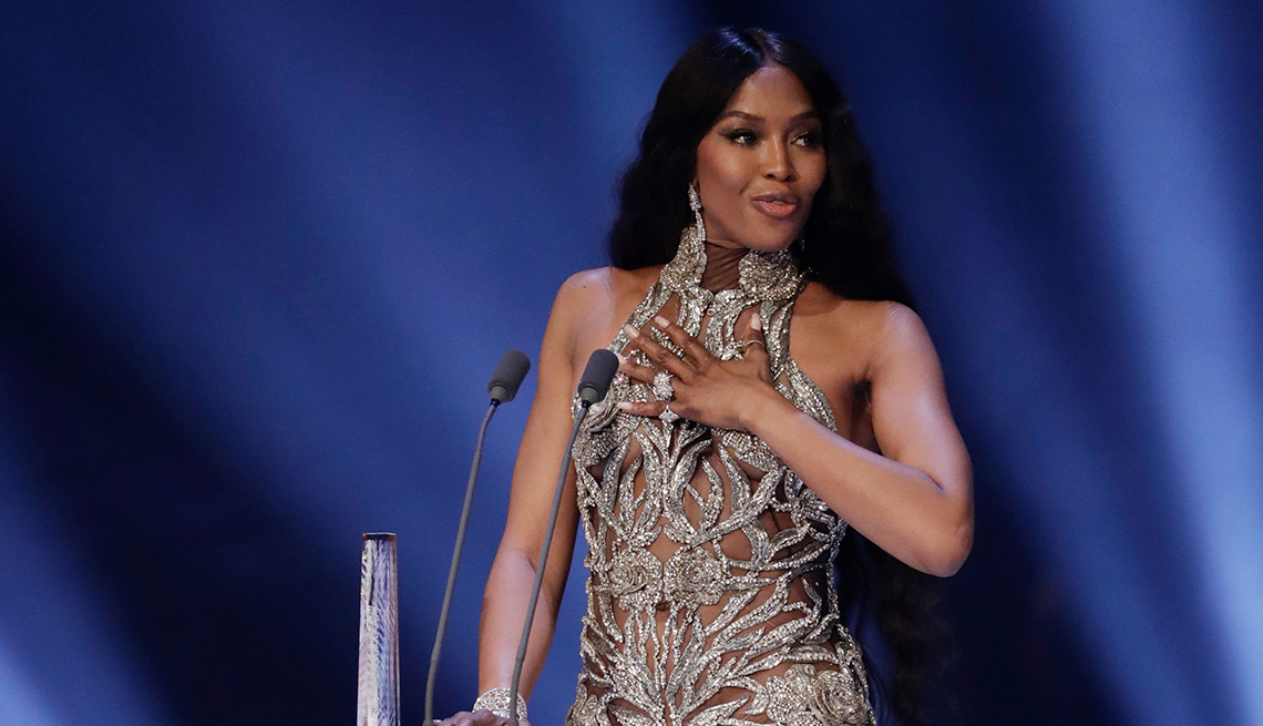 item 4 of Gallery image - Naomi Campbell on stage during The Fashion Awards 2019 held at Royal Albert Hall on December 02, 2019 in London, England.