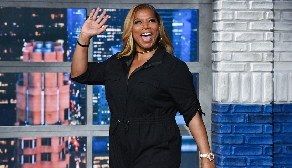 item 1 of Gallery image - The Late Show with Stephen Colbert and guest Queen Latifah during Monday's October 28, 2019 show.