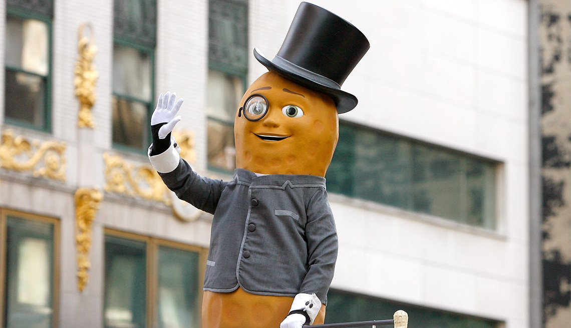 Planter's Mr. Peanut attends the 86th Annual Macy's Thanksgiving Day Parade on November 22, 2012 in New York City.