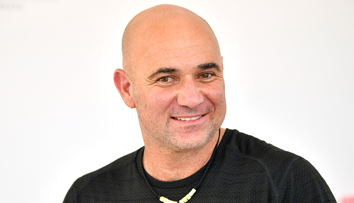 item 9 of Gallery image - Andre Agassi poses at Lavazza during day five of the 2018 Australian Open at Melbourne Park on January 19 2018 in Melbourne Australia