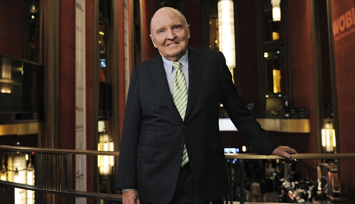 item 57 of Gallery image - Jack Welch former chairman and chief executive officer of General Electric stands for a photograph at the World Business Forum in New York